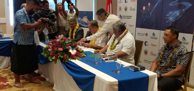 The Territory of Wallis & Futuna and the island of Vanua Levu, Fiji, join the Tui-Samoa Cable family