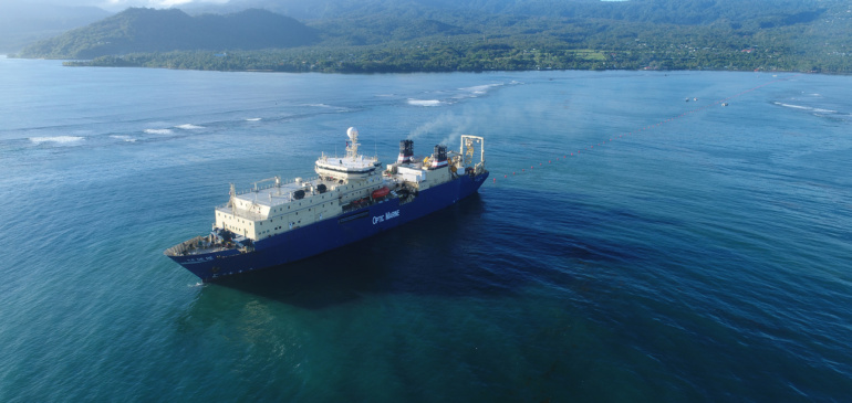 Tui-Samoa submarine cable system reaches final splice stage, enhancing submarine connectivity across the Pacific islands